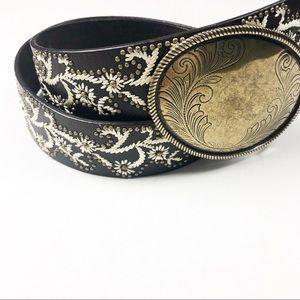 Boho Nine West Leather Belt